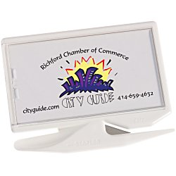 View a larger, more detailed picture of the Zippy Magnetic Business Card Letter Opener Opaque