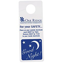 View a larger, more detailed picture of the Flexible Plastic Door Hanger