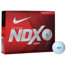 View a larger, more detailed picture of the Nike NDX Heat Golf Ball - Dozen - 24 hr