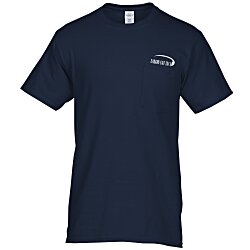 View a larger, more detailed picture of the Hanes Tagless Pocket T-Shirt - Screen - Colors