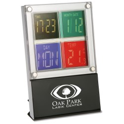 View a larger, more detailed picture of the 4 Square Clock and Thermometer