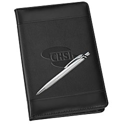 View a larger, more detailed picture of the Windsor Impressions Jr Zippered Padfolio Set - Debossed
