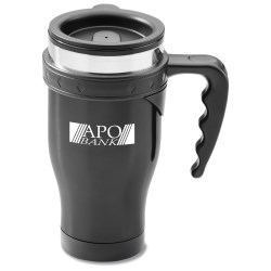 View a larger, more detailed picture of the Stainless Steel Diamond Travel Mug - 16 oz