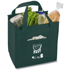 View a larger, more detailed picture of the Insulated Polypropylene Grocery Tote - Market Design