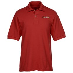 View a larger, more detailed picture of the Jerzees 100 Ringspun Cotton Pique Sport Shirt - Men s