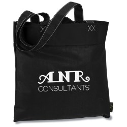 View a larger, more detailed picture of the 100 Recycled PET Lake Convention Tote - 24 hr
