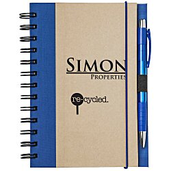 View a larger, more detailed picture of the Eco Design Recycled Color Spine Spiral Notebook - 24 hr