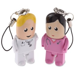 View a larger, more detailed picture of the USB Micro People - Medical - 2GB
