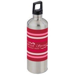 View a larger, more detailed picture of the h2go Classic Stainless Steel Sport Bottle 24 oz Stripe