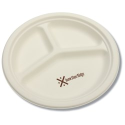 View a larger, more detailed picture of the Compostable Compartment-Style Paper Plate - Low Qty