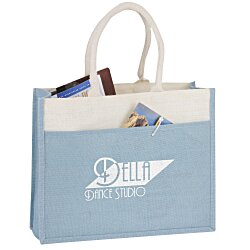 View a larger, more detailed picture of the Jute Pocket Tote