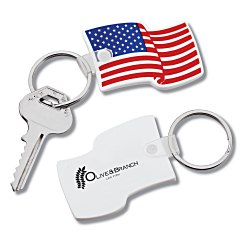 View a larger, more detailed picture of the US Flag Stock Soft Key Tag