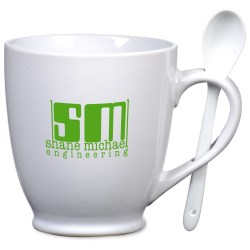 View a larger, more detailed picture of the Spooner Mug - White - 20 oz