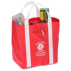 View a larger, more detailed picture of the Double-the-Fun Super Shopping Tote - 13 x 12-1 2