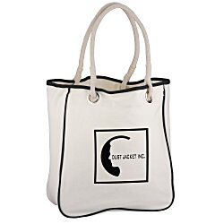 View a larger, more detailed picture of the Cotton Canvas Rope Tote