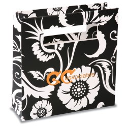 View a larger, more detailed picture of the Rectangle Handle Gift Bag - 8 x 8 - Paisley
