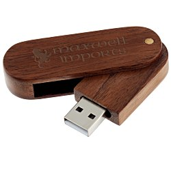 View a larger, more detailed picture of the Wood Swing USB Drive - 1GB