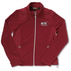 View a larger, more detailed picture of the Recycled Polyester Fleece Full-Zip Jacket - Ladies