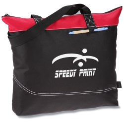 View a larger, more detailed picture of the Network Zippered Tote