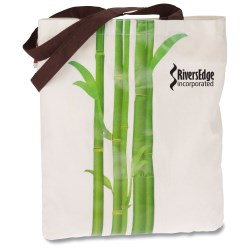 View a larger, more detailed picture of the Design Accent Cotton Shopper - Bamboo