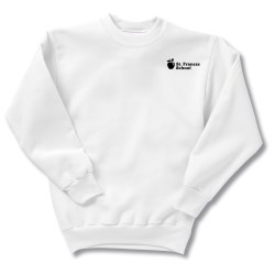 View a larger, more detailed picture of the Hanes ComfortBlend Sweatshirt - Youth - Screen - White