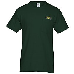 View a larger, more detailed picture of the Hanes Tagless Pocket T-Shirt - Embroidered - Colors