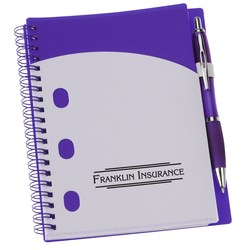 View a larger, more detailed picture of the File-A-Way Notebook w Pen - Brights