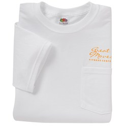 View a larger, more detailed picture of the Fruit of the Loom Best 50 50 Pocket T-Shirt - White