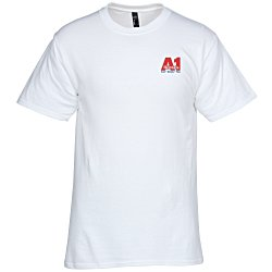 View a larger, more detailed picture of the Hanes Beefy-T - Embroidered - White