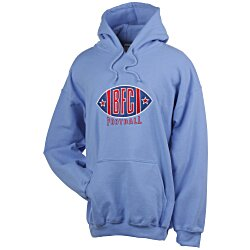 View a larger, more detailed picture of the Gildan 50 50 Hooded Sweatshirt - Applique Twill - Colors