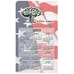 View a larger, more detailed picture of the Bic 20 mil Calendar Magnet Medium Waving Flag