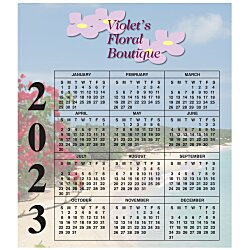 View a larger, more detailed picture of the Bic 20 mil Calendar Magnet Small Seashore