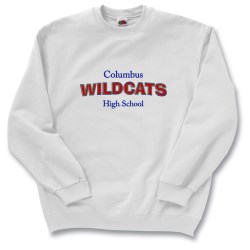 View a larger, more detailed picture of the FOL Best 50 50 Sweatshirt - Applique Felt - White