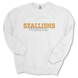 View a larger, more detailed picture of the FOL Best 50 50 Sweatshirt - Applique Twill - White