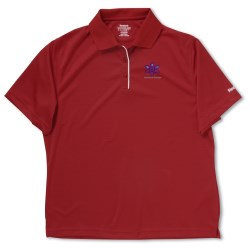 View a larger, more detailed picture of the Reebok Play Dry Horizontal Texture Polo - Ladies