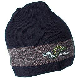 View a larger, more detailed picture of the Fine Knit Single Stripe Beanie