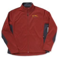 View a larger, more detailed picture of the Page & Tuttle Color Block Microfleece Jacket - Ladies