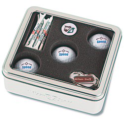 View a larger, more detailed picture of the Wilson 3-Ball Display Gift Set