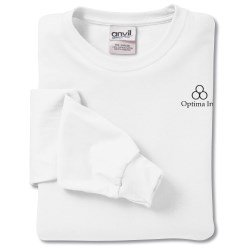 View a larger, more detailed picture of the Anvil 5 4 oz LS T-Shirt w TearAway Label - White