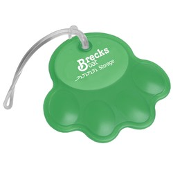 View a larger, more detailed picture of the Paw Luggage Tag - Translucent