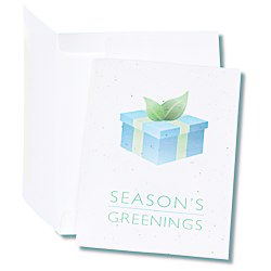 View a larger, more detailed picture of the Seeded Holiday Card - Season s Greenings Package