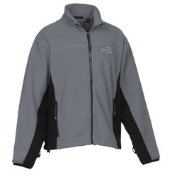 View a larger, more detailed picture of the Heavyweight Microfleece Jacket - Color Block - Men s