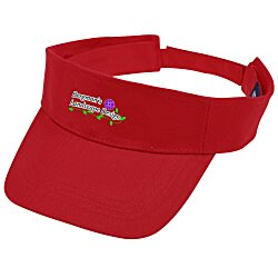 View a larger, more detailed picture of the Cotton Twill Lightweight Visor - Embroidered