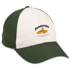 View a larger, more detailed picture of the Brushed Cotton Cap - Stone Front - Emb