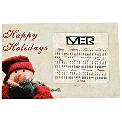 View a larger, more detailed picture of the Greeting Card with Magnetic Calendar - Snowman