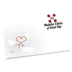 View a larger, more detailed picture of the Bic Sticky Note - Designer - 3x4 - Heart - 25 Sheet