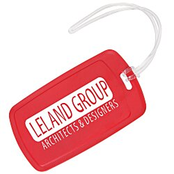 View a larger, more detailed picture of the Traveler Rectangle Luggage Tag - Opaque
