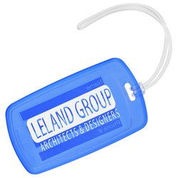 View a larger, more detailed picture of the Traveler Rectangle Luggage Tag - Translucent