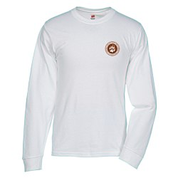 View a larger, more detailed picture of the Hanes ComfortSoft LS Tee - White