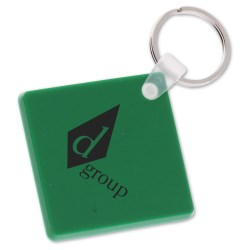 View a larger, more detailed picture of the Diamond Shape Vinyl Key Tag - Opaque - Closeout